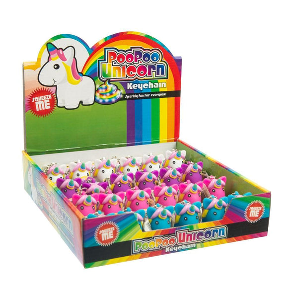 Poo Poo Unicorn Keychain - Assorted