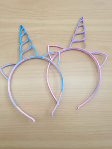 Basic unicorn headband -assorted