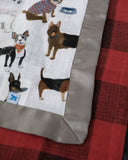 Little Unicorn - Muslin Security Blanket 2pk - Woof & Red Plaid
