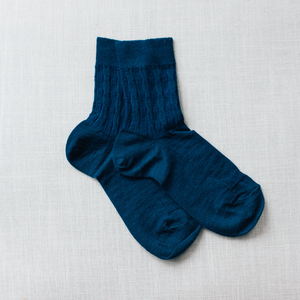 Lamington - Merino Wool Crew Socks - Woman - Dusk
