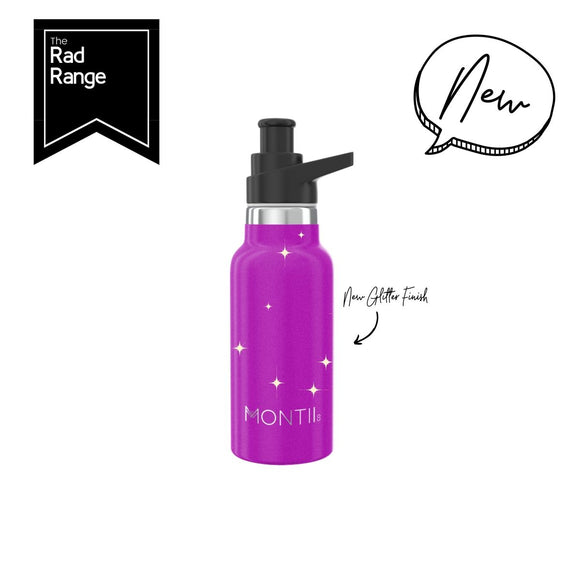 MONTIICO MINI DRINK BOTTLE - MAGENTA GLITTER