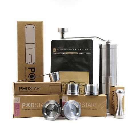 Pod Star Aldi K-Fee, Caffitaly, Verismo Reusable Stainless Steel Coffee Capsule