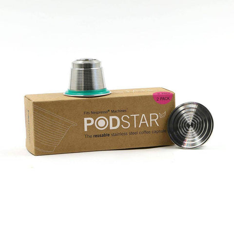 Image of Pod Star Nespresso Reusable Stainless Steel Coffee Capsule