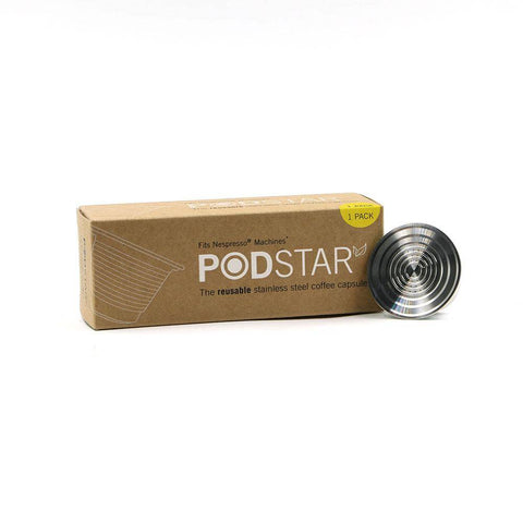 Pod Star Nespresso Reusable Stainless Steel Coffee Capsule