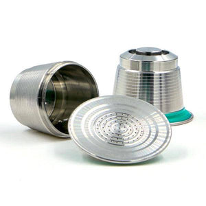 Reusable stainless steel coffee capsule for Nespresso machines