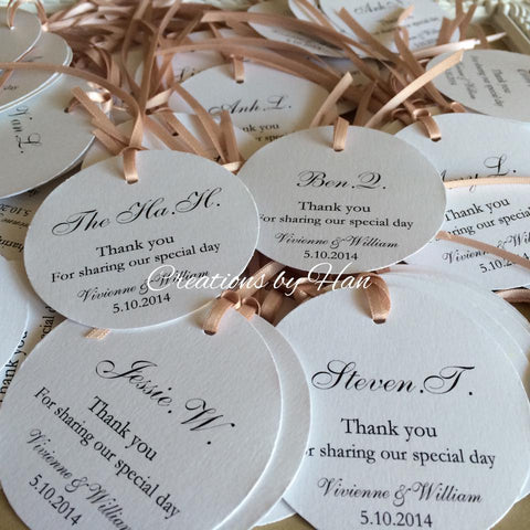 Thank you place setting swing tags