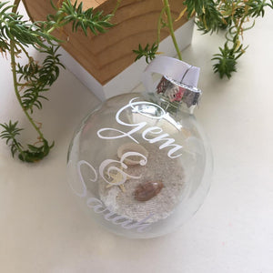 Beach Themed Personalised Baubles