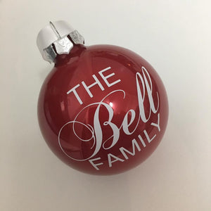Red Personalised Baubles