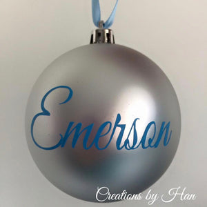 Shatterproof Personalised Baubles
