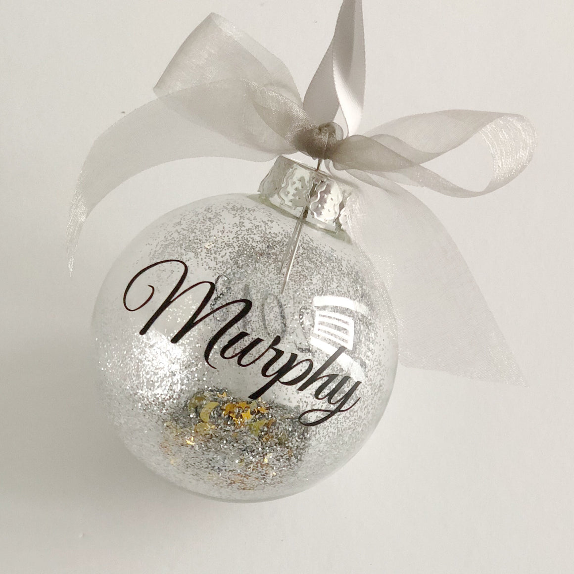 Glitter Personalised Baubles