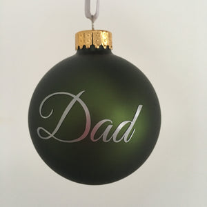 Mini Personalised Baubles