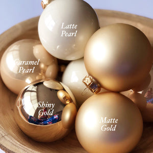 Deluxe Gold Personalised Baubles