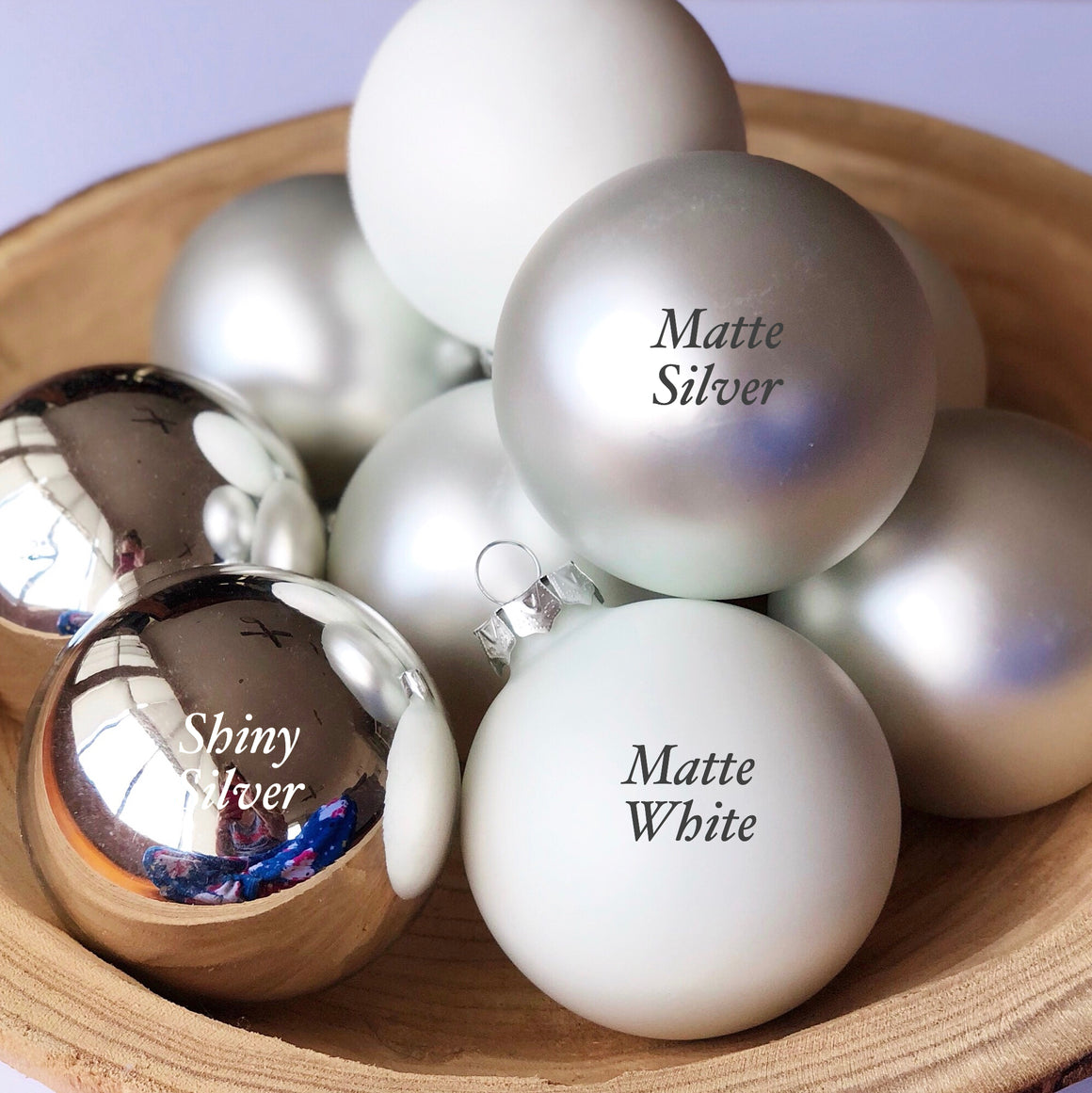 Deluxe Silver Personalised Baubles