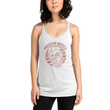 Red American Muscle Racerback Tank