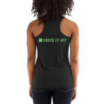 Green Check It Off Women's Racerback Tank