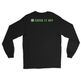 Green Check It Off Unisex Long Sleeve Tee