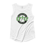 Green Check It Off Women's Cap Sleeve Tank