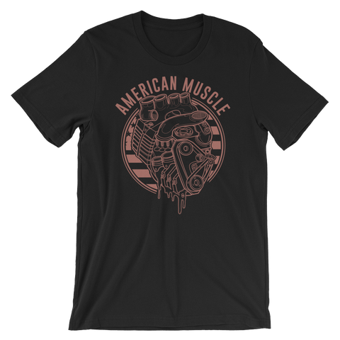 Red American Muscle Unisex Tee