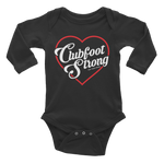 Clubfoot Strong Long Sleeve Onesie