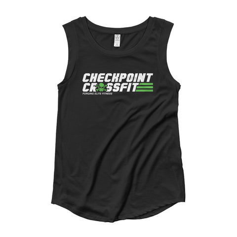 Option 2: Women's Green Cap Sleeve Tank