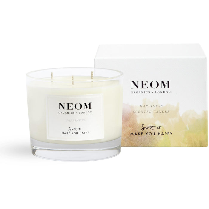 Neom Organics - Happiness Scented Candle (3 Wick)
