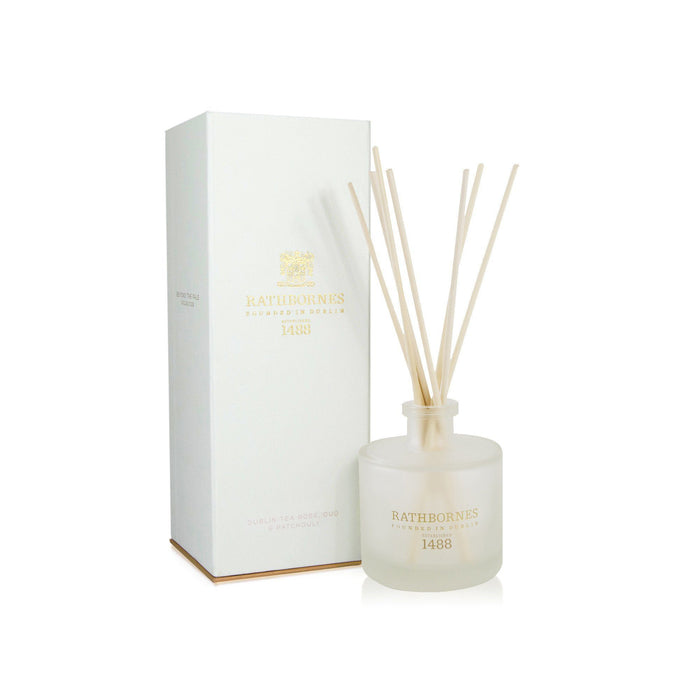 Rathbornes - Reed Diffuser - Dublin Tea Rose, Oud & Patchouli - Kates Kitchen