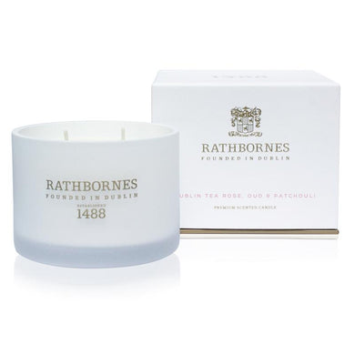 Rathborne - Scented Candle - Dublin Tea Rose, Oud & Patchouli - Kate's Kitchen