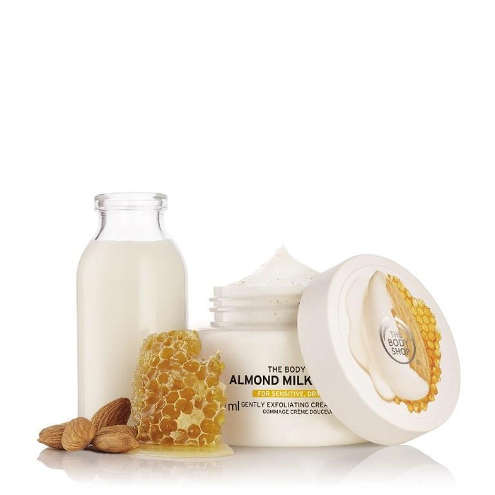 The Body Shop Almond Milk & Honey Body Scrub - Kates Kitchen