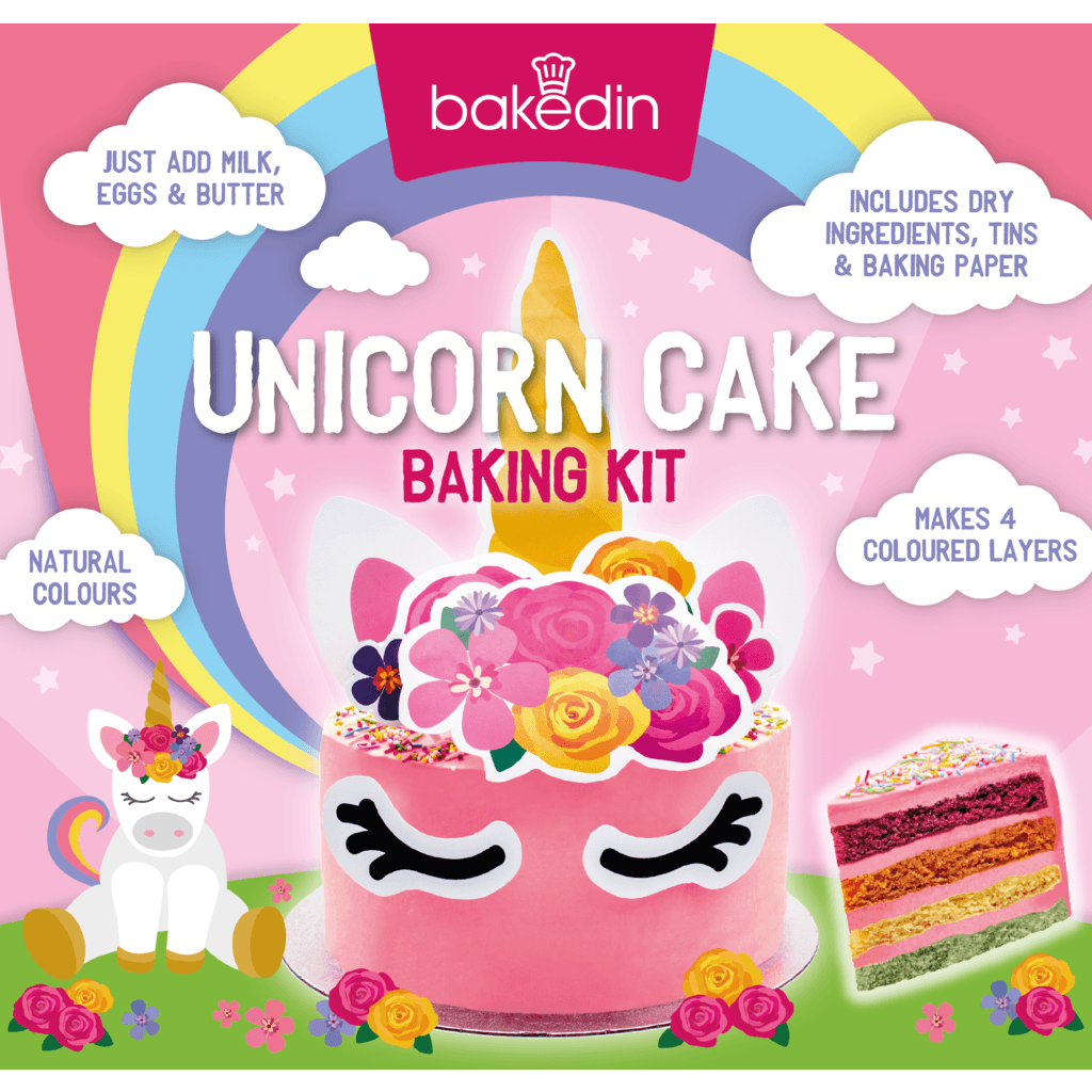 Bakedin Unicorn Cake Kit - Kate's Kitchen