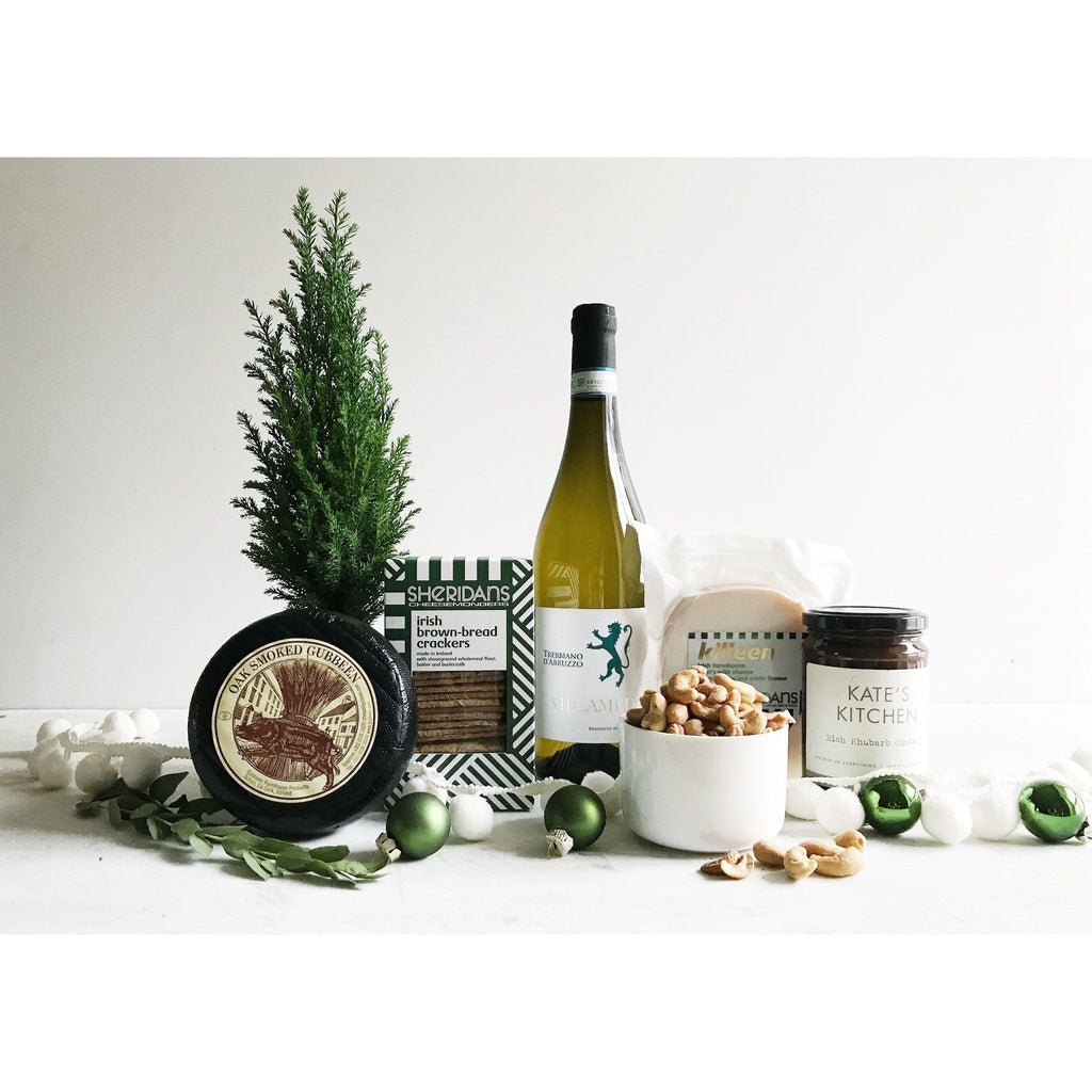 Christmas Cheers to Cheese and Wine Gift Hamper - Kate's Kitchen