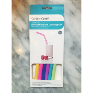 Kitchen Craft Silicone Straws With Cleaning Brush - Kate's Kitchen