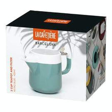 Load image into Gallery viewer, La Cafetiere Barcelona Retro Blue Two Cup 420ml Teapot - Kate's Kitchen