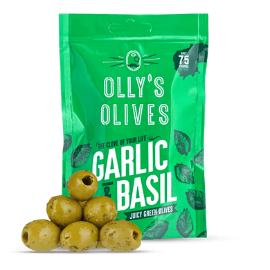 Olly's Garlic & Basil Green Olive - Kate's Kitchen