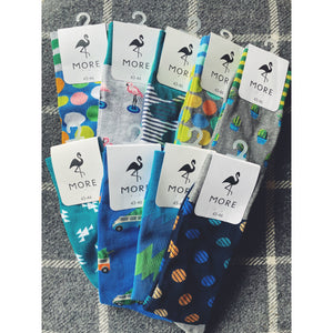 Patterned Mens Socks - Blue Collection - Kate's Kitchen