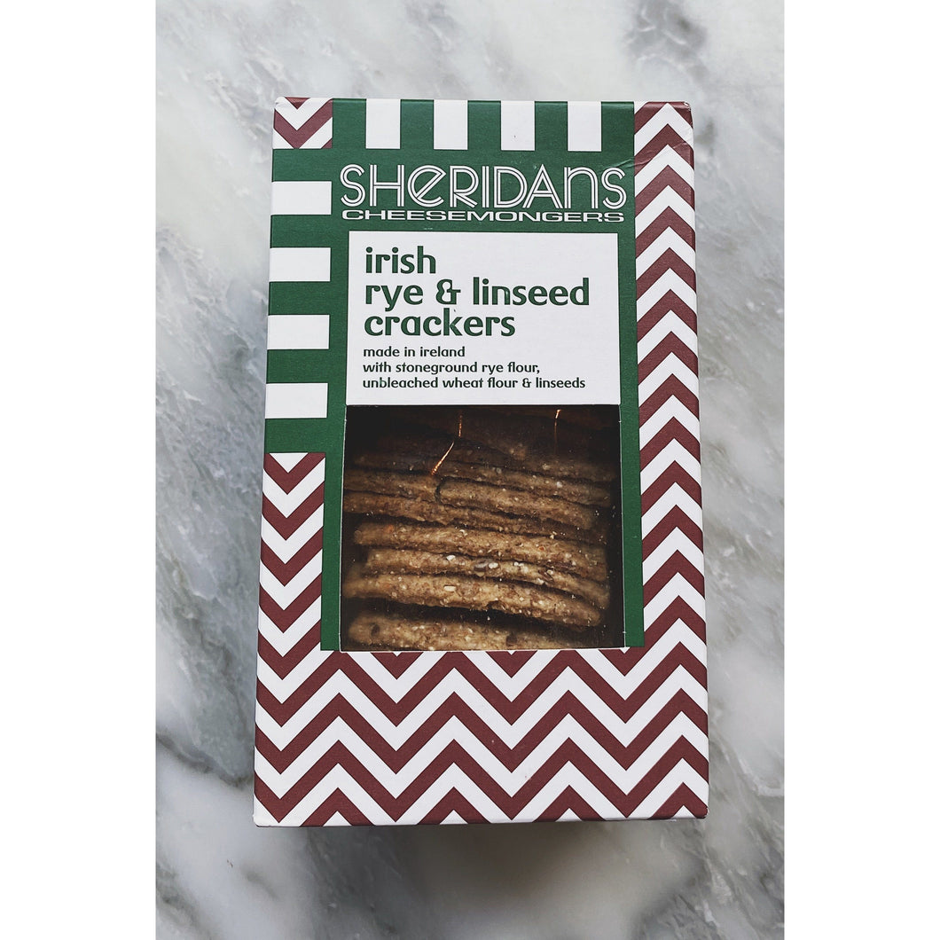 Sheridans Rye Linseed Crackers - Kate's Kitchen