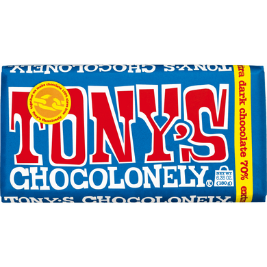 Tonys Dark Chocolate Bar 70% - Kate's Kitchen