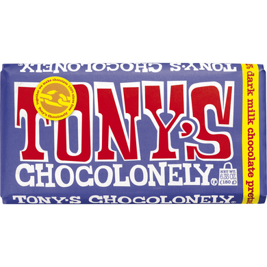Tonys Dark Milk Pretzel Toffee 42% Chocolate Bar - Kate's Kitchen