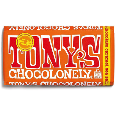 Tonys Milk Chocolate Caramel Sea Salt Bar - Kate's Kitchen