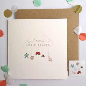 """Welcome Little Squish"" New Baby Gift Card - Kate's Kitchen"