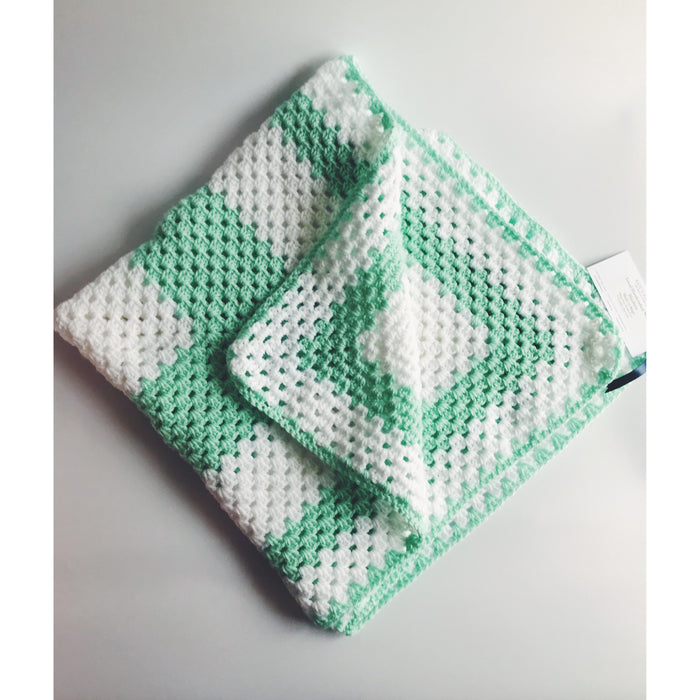 Wool Baby Blanket - Mint
