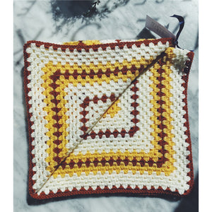 Wool Baby Blanket - The 70's - Kate's Kitchen