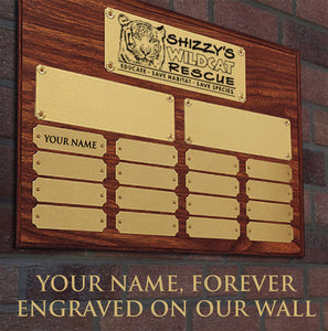 Habitat Sponsor - Small Engraved Plaque