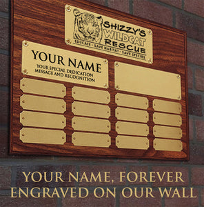 Habitat Sponsor - Large Engraved Plaque