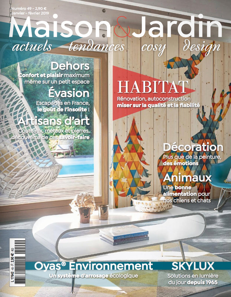 Maison & Jardin France / Jan-Feb 2019 | Seen In | Nguni Wire ...