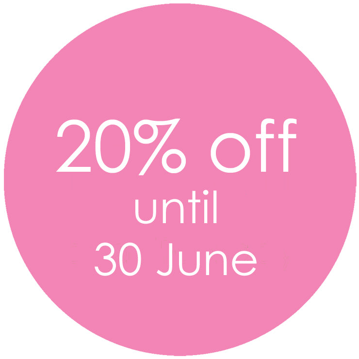 20% off until 30 June