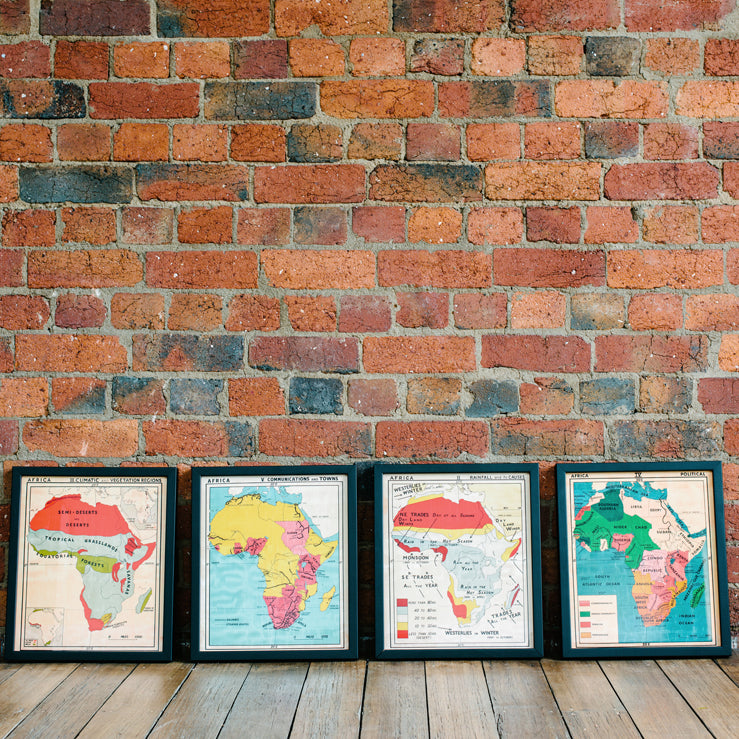 Vintage Africa Maps in store