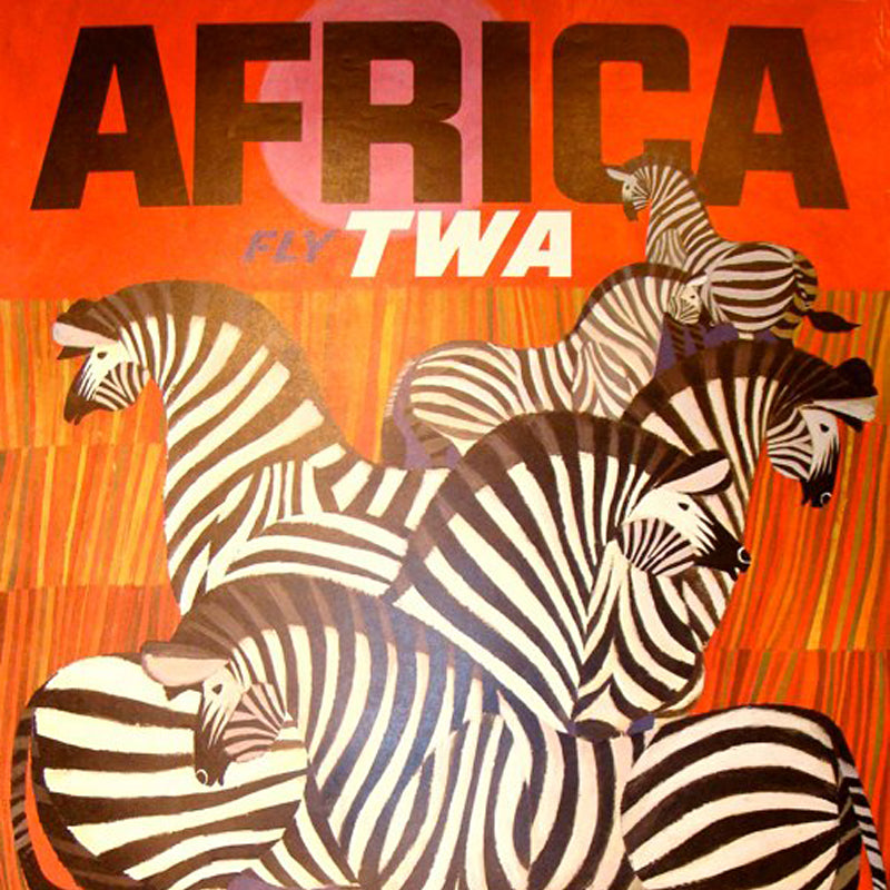 Africa vintage travel posters