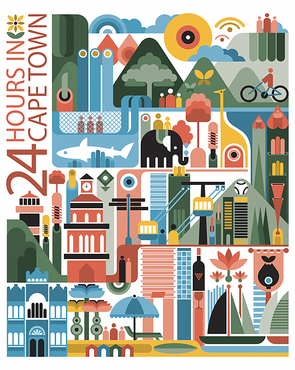 Safari Journal / Blog by Safari Fusion | 24 hours in Cape Town | Modern travel posters by graphic designer Fernando Volken Togni