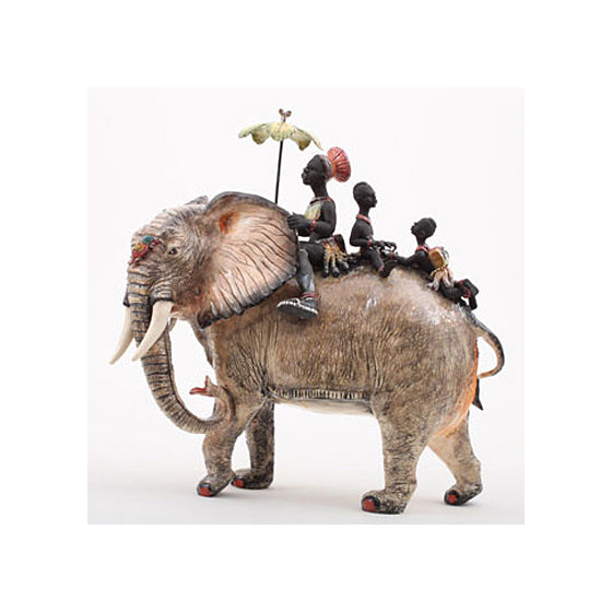 Safari Journal / Blog by Safari Fusion | Admiring Ardmore | Ceramic sculpture 'Elephant Rider' by Ardmore South Africa