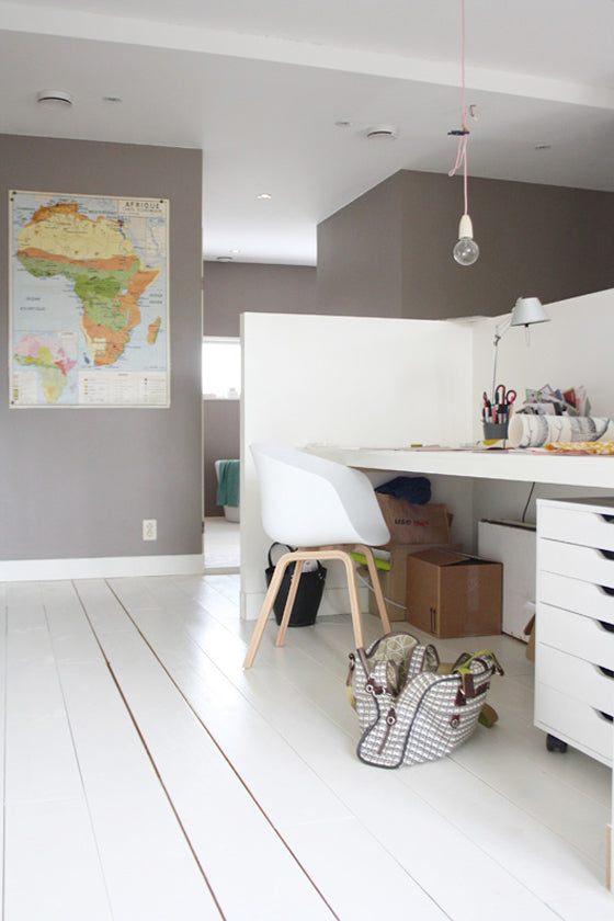 Map it | Vintage Africa Map in a funky Dutch home via decor8